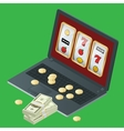 Casino design with poker vector image