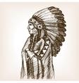 Vintage indian sketch style vector image