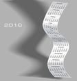 2016 Tall Wavy Calendar vector image vector image