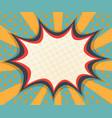 abstract blank speech bubble comic book pop art vector image vector image