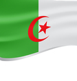 Algeria wavy flag on white background vector image vector image