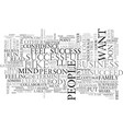 are you successful text word cloud concept vector image vector image