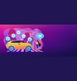 autonomous car concept banner header vector image vector image