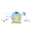 Balanced State Woman Icon Flat Isolated vector image