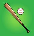 baseball icon vector image vector image