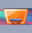basketball concept banner cartoon style vector image vector image