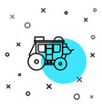 black line western stagecoach icon isolated on vector image vector image