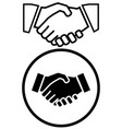 business handshake icon vector image