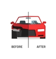 Car body frame repair service crushed and vector image vector image