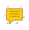chat talk bubble icon design vector image