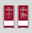 christmas red banners vector image vector image