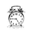 clock doodle vector image vector image