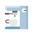 coffee maker machine espresso machine flat icon vector image