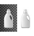 detergent bottles mockup isolated vector image