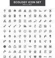 ecology outline coloring icon set vector image