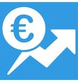Euro Sales Growth Icon vector image