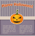 festive halloween holiday vintage template vector image vector image