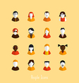 flat people icons vector image