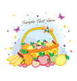 Funky fruit mix vector image vector image