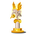 funny statue made of gold and stone in the form of vector image vector image