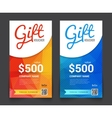 Gift voucher market offer template layout with vector image vector image