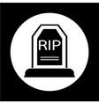 grave icon vector image vector image