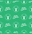 green seamless merry christmas pattern background vector image vector image