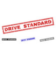 grunge drive standard textured rectangle stamps vector image vector image