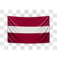 hanging flag latvia republic latvia vector image vector image