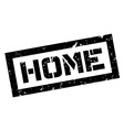 Home rubber stamp vector image