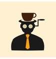 Icon man thinking about breakfast vector image vector image