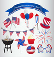 Icons design for 4th july independence day