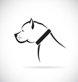 images of Pitbull dog vector image vector image