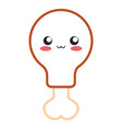kawaii chicken leg icon vector image vector image