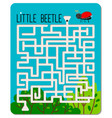 kid maze game vector image
