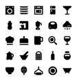 kitchen utensils icons 3 vector image