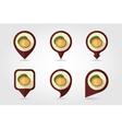 Kiwi mapping pins icons vector image vector image