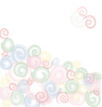 Light colored abstract circles background vector image vector image