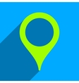 Map Marker Flat Square Icon with Long Shadow vector image