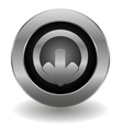 Metallic logout button vector image