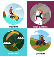 modern sports concept icons set vector image vector image