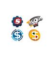 money template set vector image