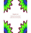 Multicolor page corner design template vector image vector image