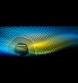 neon glowing techno hexagon shape lines hi-tech vector image vector image