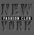 new york typography design vector image vector image