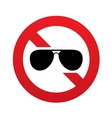 no aviator sunglasses sign pilot glasses button