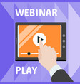 online webinar play concept banner flat style vector image vector image