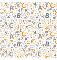 orange and grey abc letter background seamless vector image vector image