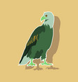 paper sticker on theme of andorra eagle vector image vector image