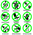 prohibition signs for park vector image